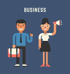 Businessman Concept Male and Female Cartoon vector image