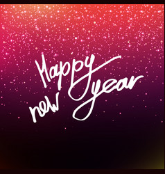 calligraphy happy new year vector image