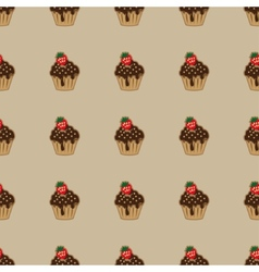 Choco cake brown seamless pattern vector image