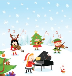 Christmas Music vector image