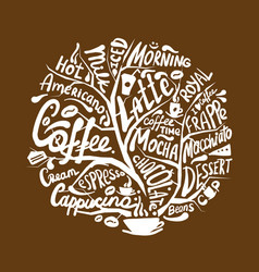 cofee time art frame for your design vector image