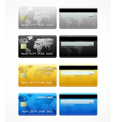 Collection of credit cards vector