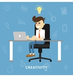 Creative ideas business concept vector
