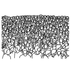crowd people background sketch vector image