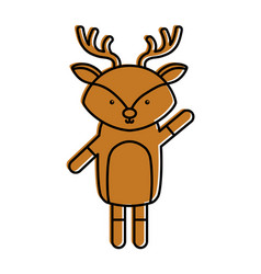 Cute and tender reindeer vector