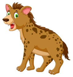 Cute hyena cartoon posing look at camera vector