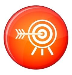 darts icon flat style vector image