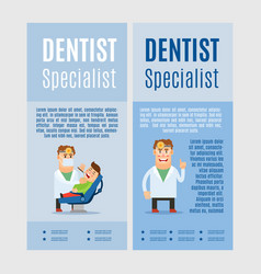 Dentist specialist vertical flyers vector