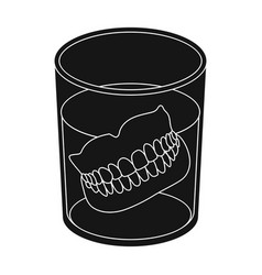Denturesold age single icon in black style vector