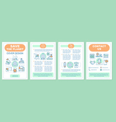 environmental issues brochure template layout vector image