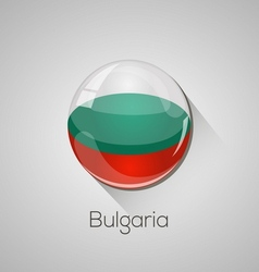 European flags set - Bulgaria vector image
