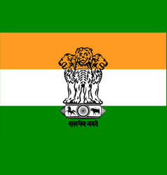 Flag of india vector