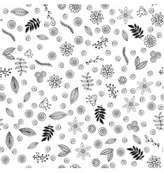 floral seamless pattern plant texture for fabric vector image