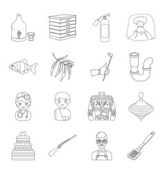 Food sports lifeguard and other web icon in vector