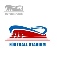 Football or soccer stadium building icon vector