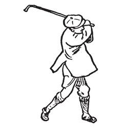Golfer vintage vector