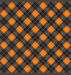 Halloween argyle plaid scottish cage background vector