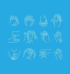 hand washing icon self hygiene medical symbols vector image
