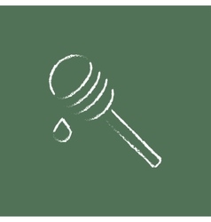 Honey dipper icon drawn in chalk vector