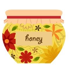 Honey jar retro vector image