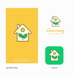 house company logo app icon and splash page vector image
