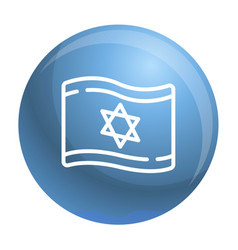 Israel flag icon outline style vector