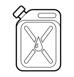 Jar of gasoline icon outline style vector