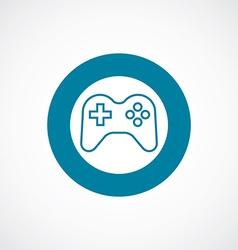 Joystick icon bold blue circle border vector