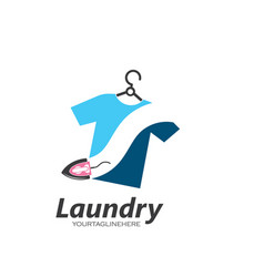 laundry logo icon design vector image