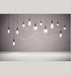 light bulb background vector image