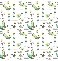 Linear nature icons background vector image