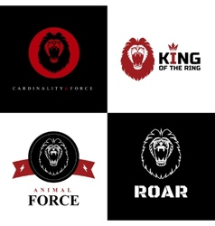 Lion Logo Graphic Designs vector image