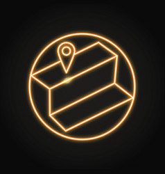 local seo icon in neon line style vector image