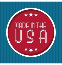 made in the usa design vector image