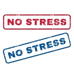 No Stress Rubber Stamps vector