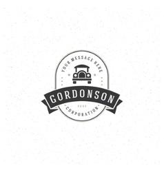 Old car logo template vector
