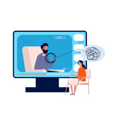 online psychotherapy psychologist consultation vector image