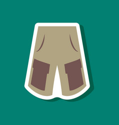 Paper sticker fashion clothes shorts vector