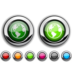 Planet button vector image