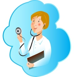 profession medicine nurse vector image