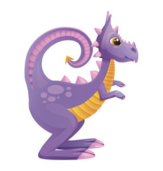 purple dragon vector image