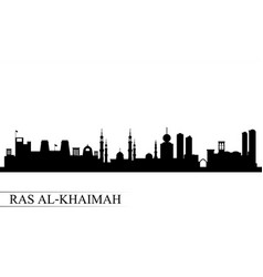 ras al-khaimah city skyline silhouette background vector image
