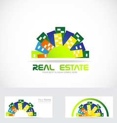 Real estate city logo vector
