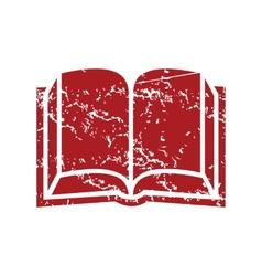 Red grunge book logo vector image
