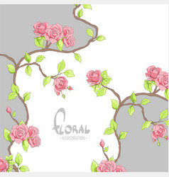 red roses on an unusual background vector image