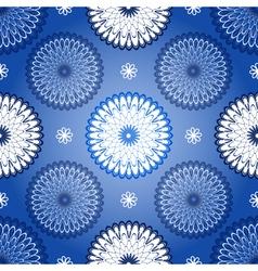 Repeating dark blue vintage pattern vector