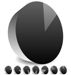 rotating empty radar screen or sonar display vector image