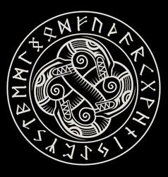 Scandinavian viking design ancient decorative vector