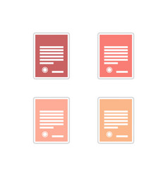 Set paper stickers on white background legal vector