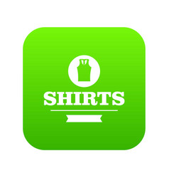 shirt icon green vector image